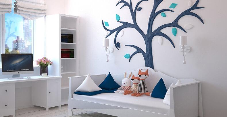 Jak urządzić mały pokój dla dziecka - kolory