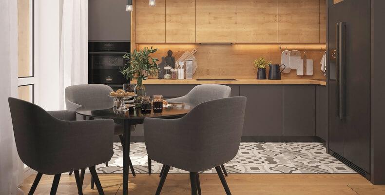 okrągły stół do małej kuchni