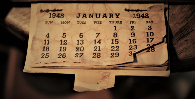 Pomysł na kalendarz na ścianie
