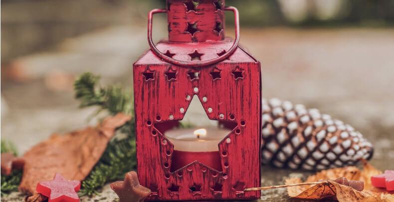 Świecznik - lampion świąteczny