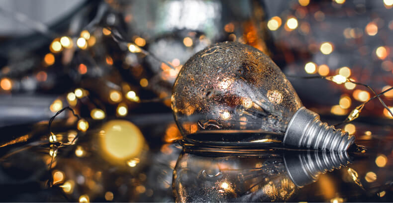 Dekorowanie domu na Święta - lampki