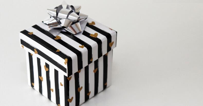 Dekorowanie prezentów - pudełko
