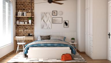 Sypialnia w stylu francuskim - prowansalskie wnętrza