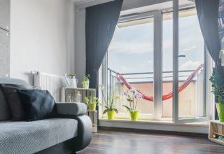Okno balkonowe Domel
