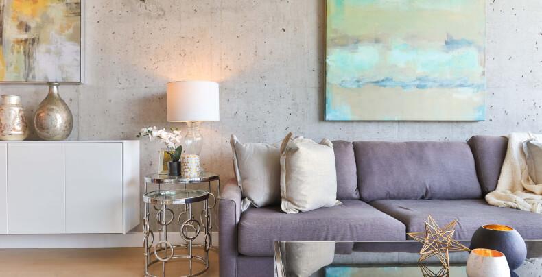 Pomysł na pustą ścianę - beton