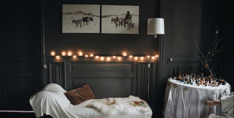 Szare mieszkanie - oświetlenie